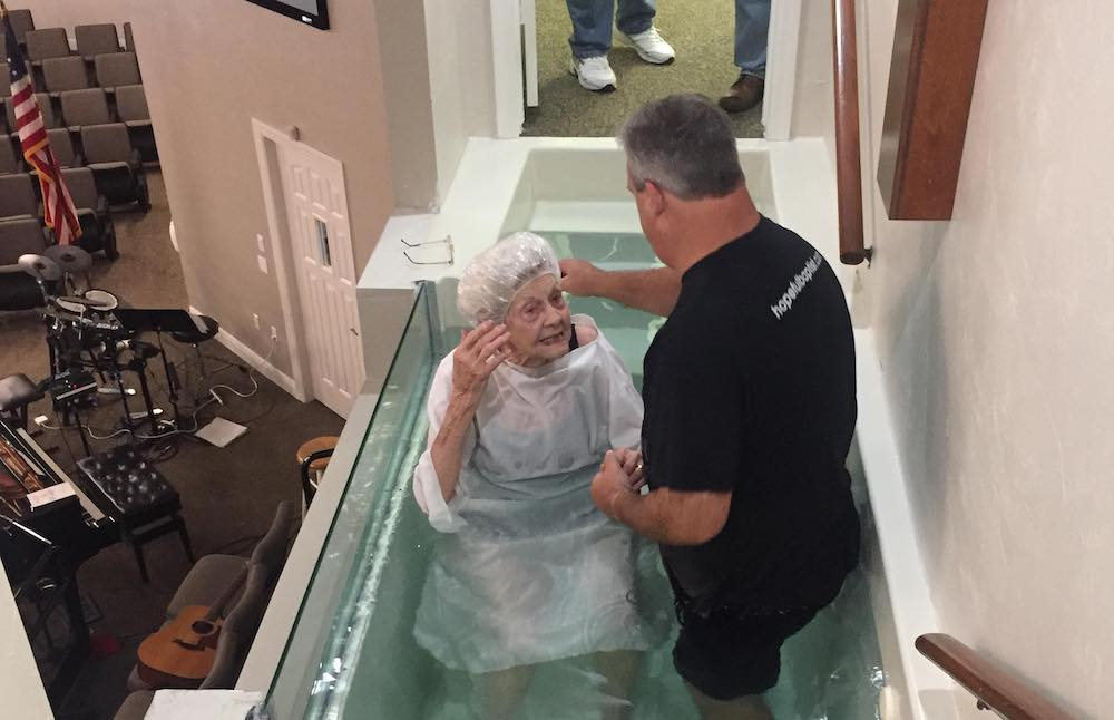 96-year-old on baptism: 'I couldn't wait to get in that water'