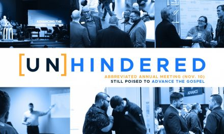 Unhindered: Abbreviated Annual Meeting (Nov. 10) still poised to advance the Gospel