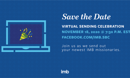 IMB to host virtual Sending Celebration, November 18