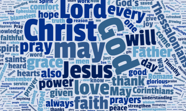 Blog: Encouragement from Paul's prayer word cloud