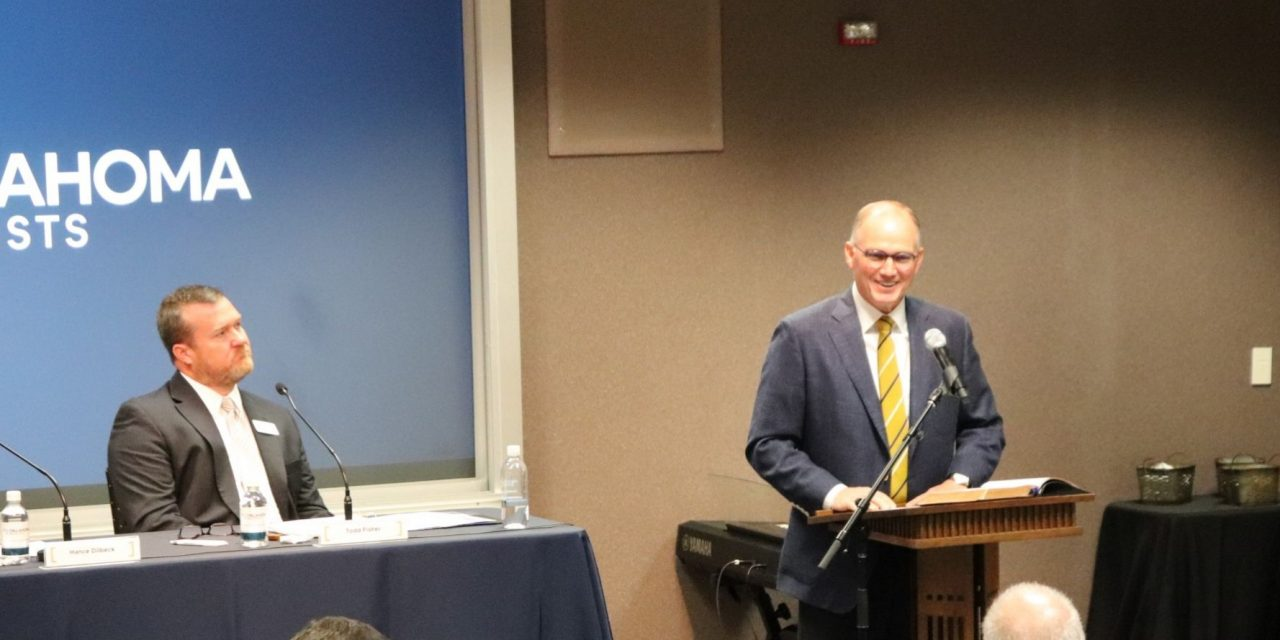 Dilbeck makes resignation official at Oklahoma Baptists' board meeting; Board selects search committee, Dilbeck will serve through June 25