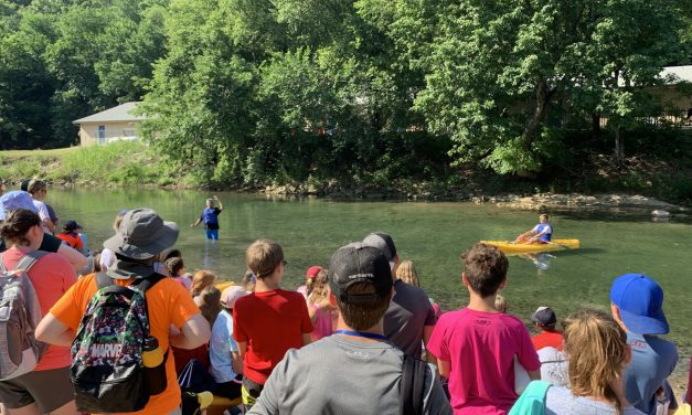 Cordova preaches from the creek at CrossTimbers