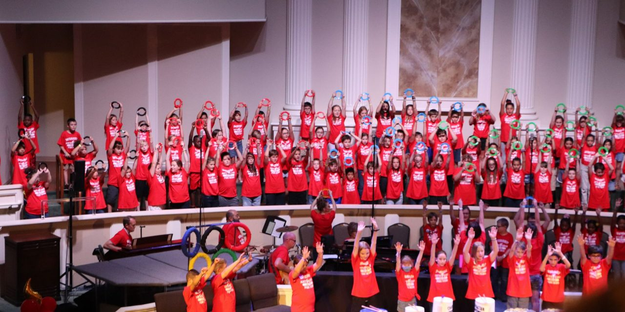 Children 'go for the gold' at 2021 Worship Arts Camp for Kids