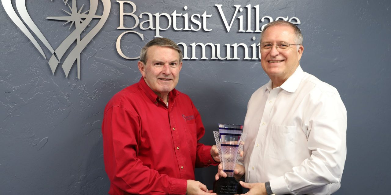 'For a time such as this': Thomas honored by Baptist Village Communities